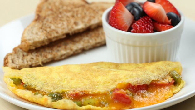 Breakfast: Cheese And Veggie Omelet