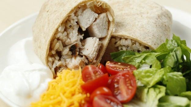Lunch: Chicken Burrito
