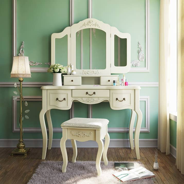 1 A Vintage Inspired Vanity For Anyone Who Likes To Pretend They Live In Another Era Now Pass Me My Rouge