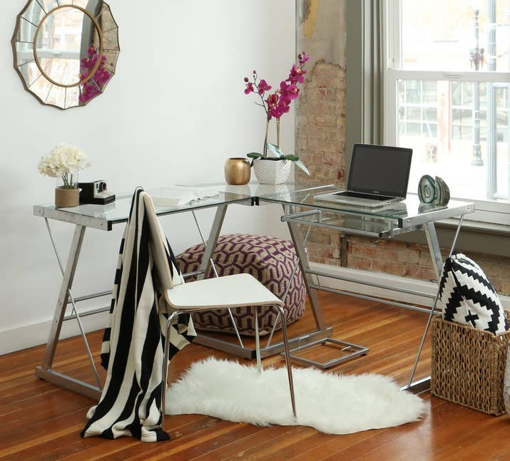 2 A Corner Desk With Sleek Look Thatll Maybe Motivate You To Get Some Work Done
