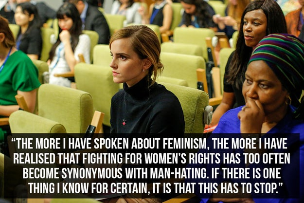 When she launched the HeForShe campaign with an inspiring speech at the UN headquarters, and shut down the suggestion that feminism is the same as man-hating.