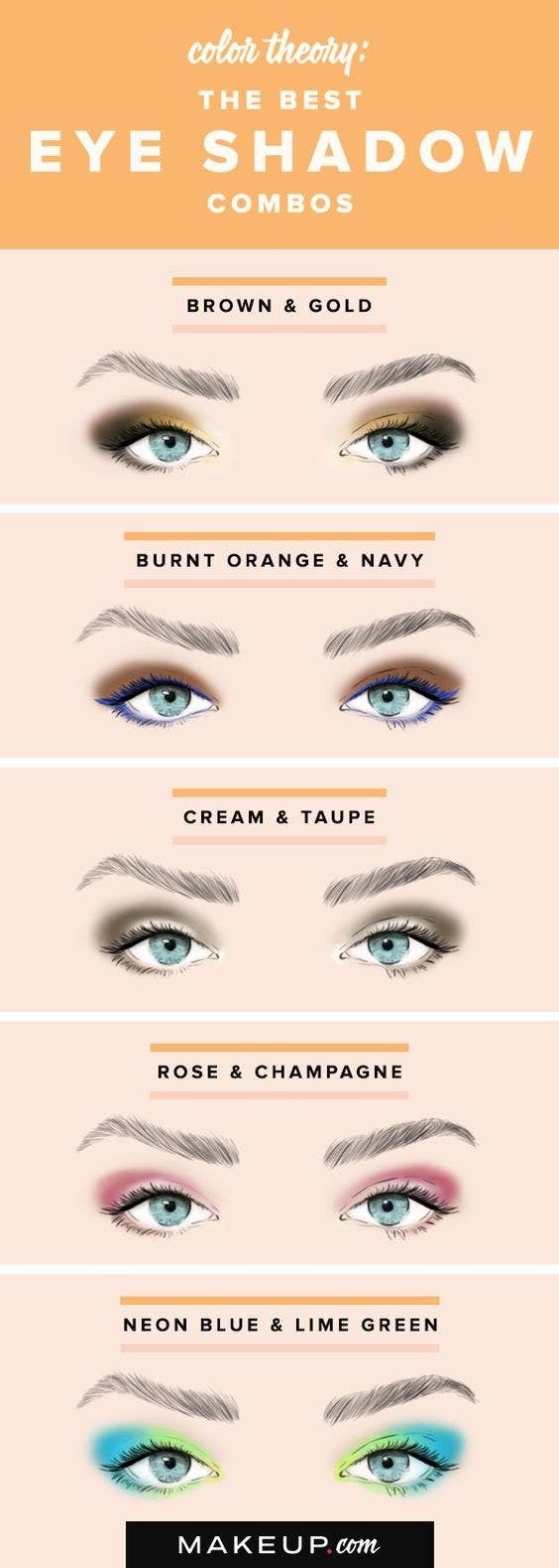 18 eye makeup cheat sheets if you dont know wtf youre doing this color combo chart is great if you need a little inspiration geenschuldenfo Gallery