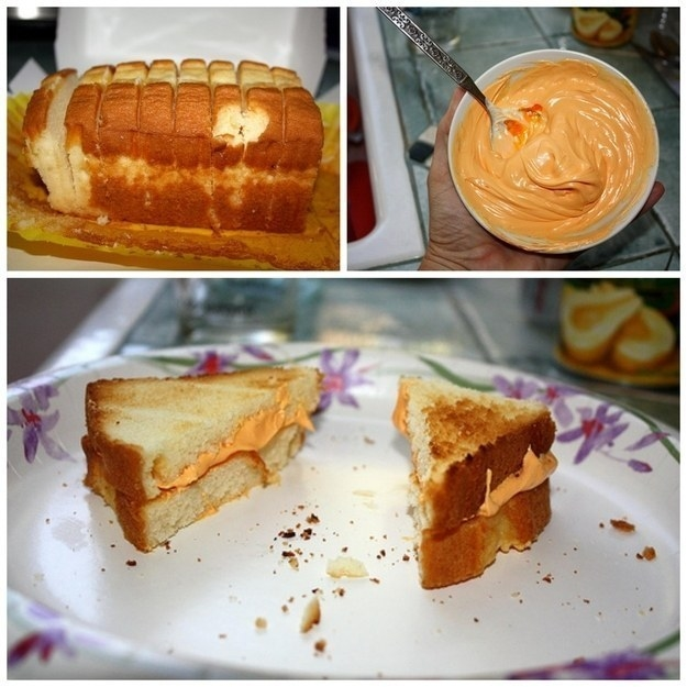 Serve a dessert grilled cheese.