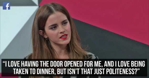 When she was asked about whether feminism has a place in the world of dating, and she had the most eloquent response.