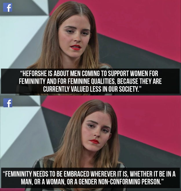 When she stressed the importance of intersectionality in feminism.