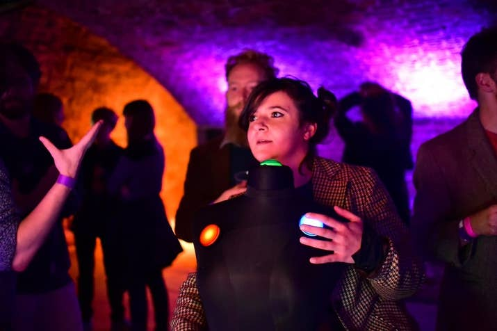 We Throw Switches put on gaming indie club nights as well as installations, tournaments, and developer showcases. Basically, they want to get games out of the house and into interesting places, like these spooky vaults underneath the city.