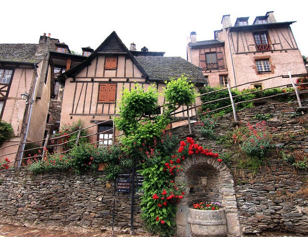 But it turns out that Conques, France, the real town that her village of Villeneuve is based on, is completely adorable!