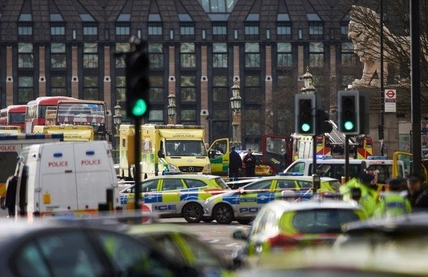 "The Metropolitan police said they are treating the incident as a ""terrorist attack""."