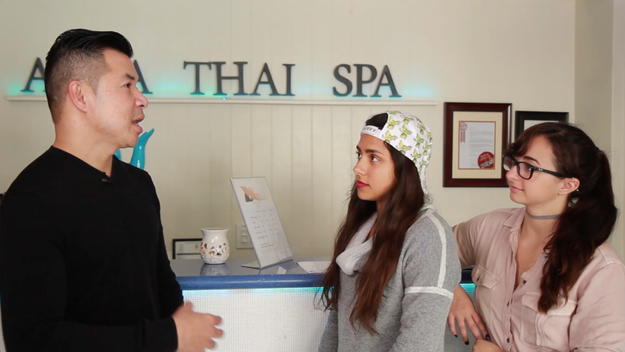 The first massage was a classic Thai massage at Aqua Thai Spa. With their early bird special, the hour long massage only cost $39.