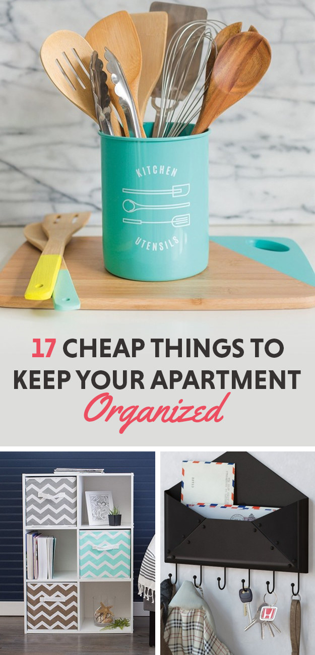 17 super cheap things to help keep your apartment organized. Black Bedroom Furniture Sets. Home Design Ideas