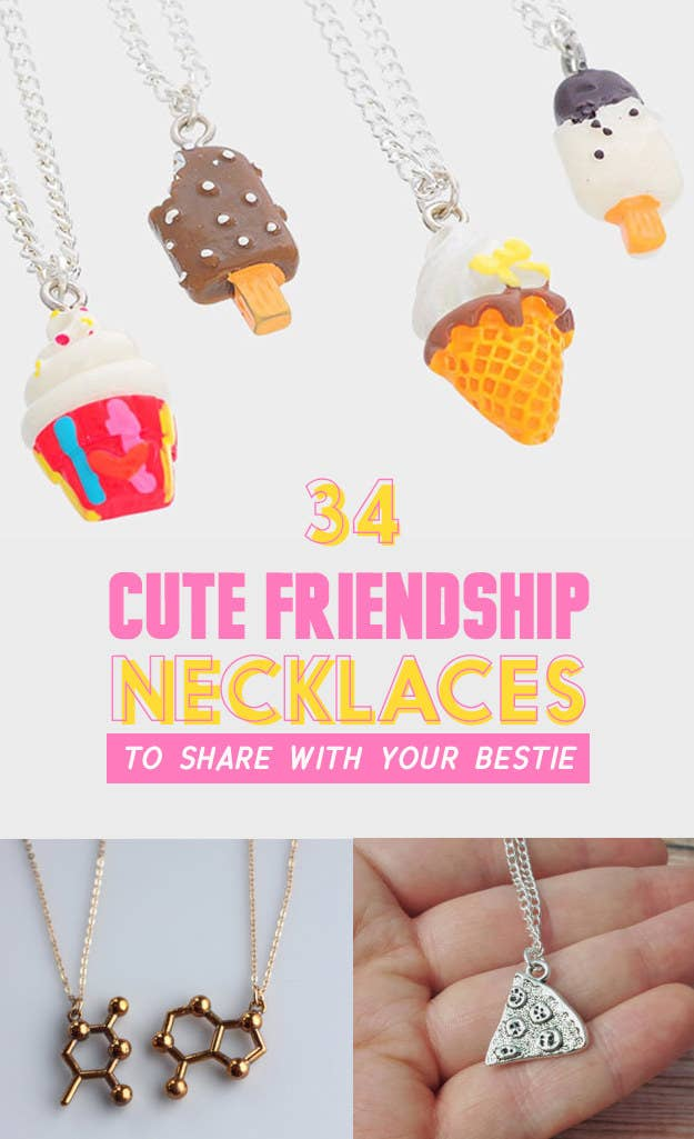 bcf0380ec309f3 34 Impossibly Cute Friendship Necklaces Your BFF Will Totally Love