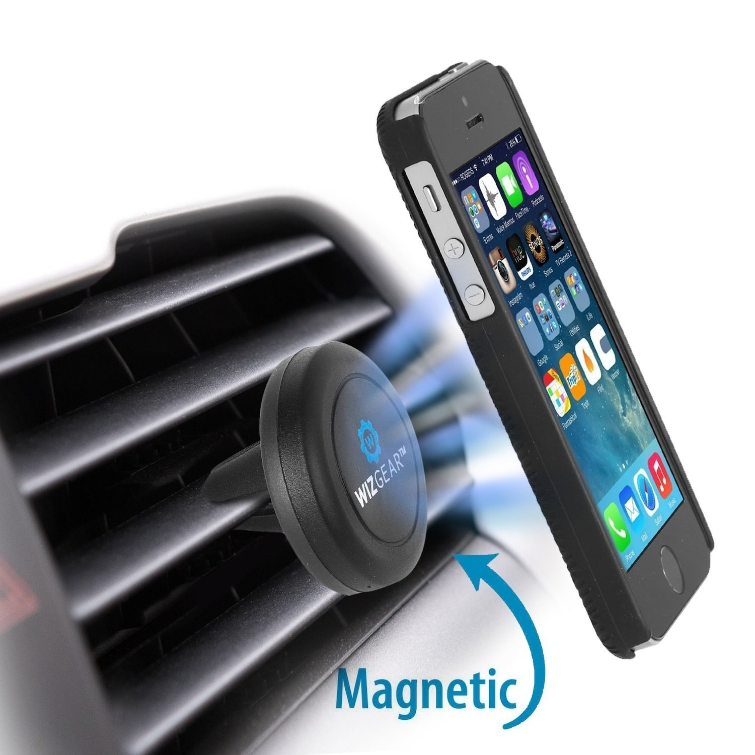Magnetic phone bad car mount safe
