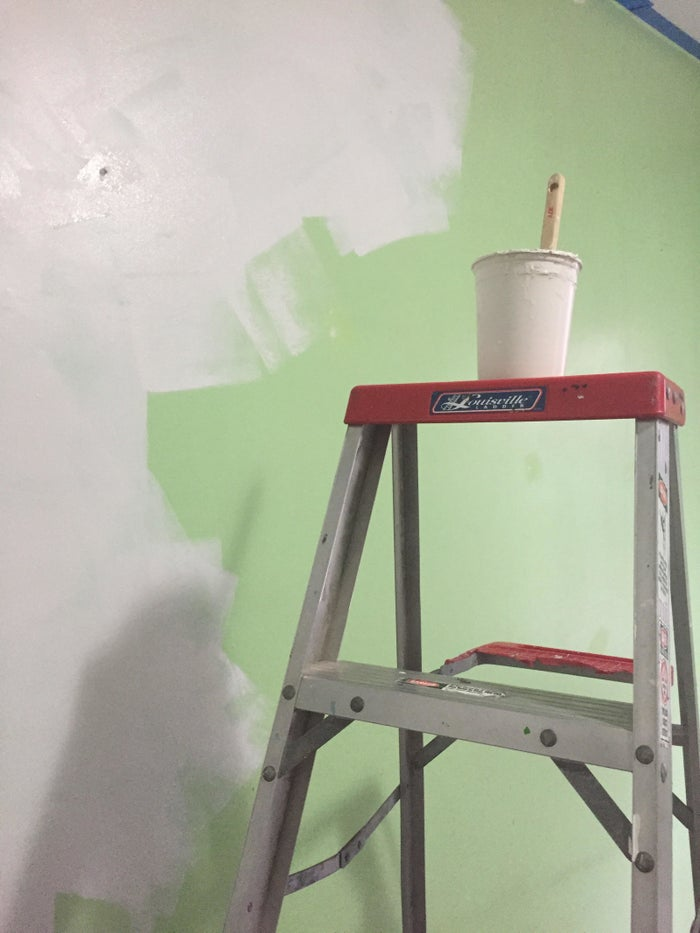 When I recently painted my living room, I slashed costs by borrowing an aluminum ladder ($83.42 on Amazon) from my building's super. I also borrowed some tools from nearby friends, including a paint roller ($7.98), roller extender ($13.37), half-used roll of painter's tape ($3.67 for a whole roll), plastic paint tray ($6.89 for a pack of 10), and spackle (1/2 pint for $3.18). I DID buy a three-pack of plastic drop cloths ($12.11 ), three-pack of roller covers ($8.49), and roll of painter's tape ($3.67). I used a paintbrush I forgot I had in my toolbox and some plastic soup containers to divvy up paint.I used a The Home Depot gift card that I already had in-store to get the stuff that I did buy, so the above pricing may be a little off...but you get the gist. (Also, I threw away my receipt. Oops.)Based on this loose math, I spent $24.27 and saved $118.51 by asking around to borrow stuff. Plus, I got the paint for free because I reviewed it for this story.If you don't have friends or neighbors with the stuff you need, you can rent equipment at your local home centers like The Home Depot.