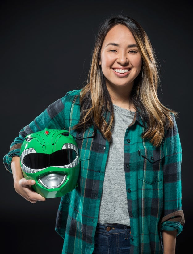 For Ashly, she grew up wanting to be the Green Power Ranger, Tommy, because of how cool he was.