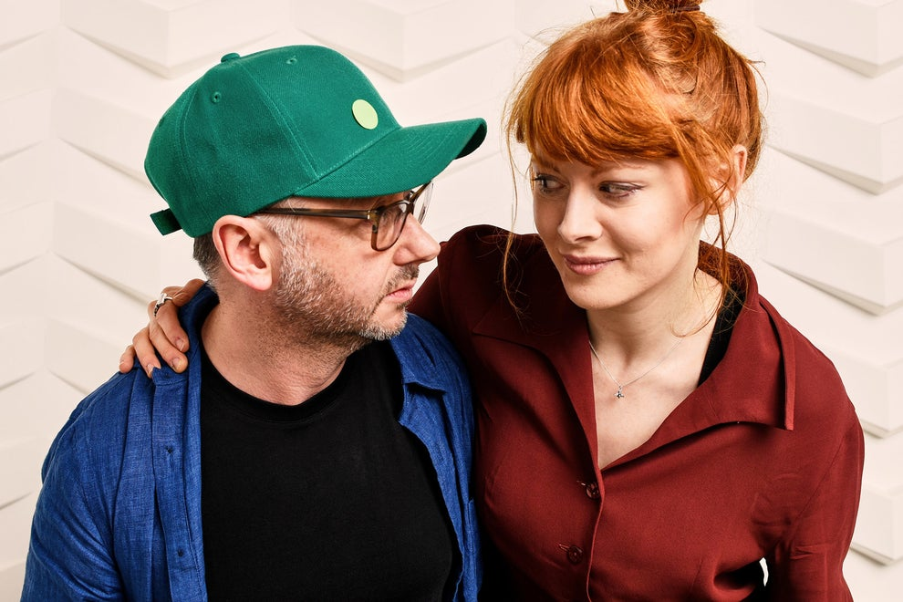 Daphne director Peter Mackie Burns with star Emily Beecham