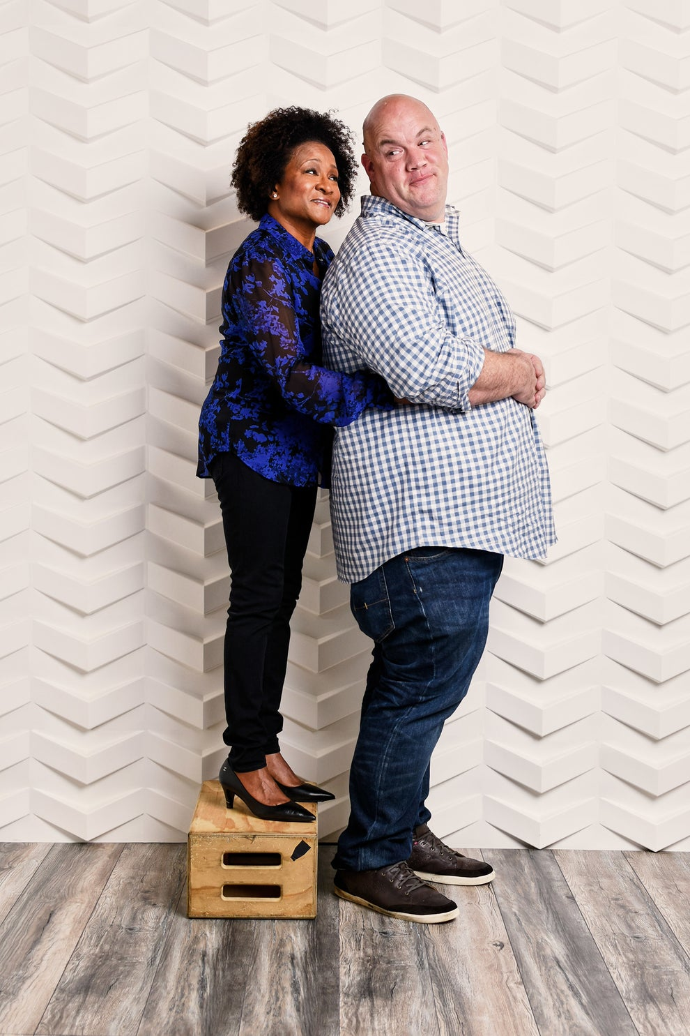 Talk Show the Game Show executive producer Wanda Sykes with creator and host Guy Branum