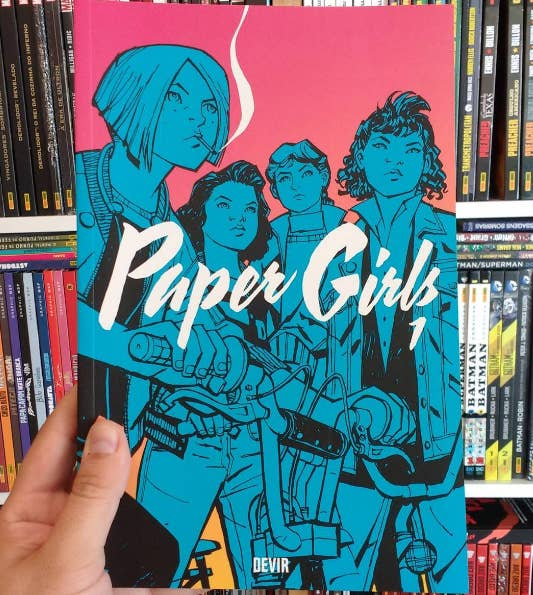 """This novel is a complete homage to Spielberg's '80s adventures, so it's a good read for Stranger Things fans. The protagonists are four girls who are huge fans of old-school punk-rock style who encounter aliens and witness strange vanishings, which is just the start of their problems. These girls are tough, smart, and resourceful. It's an incredible read which I highly recommend."" – enchanteddreamer"