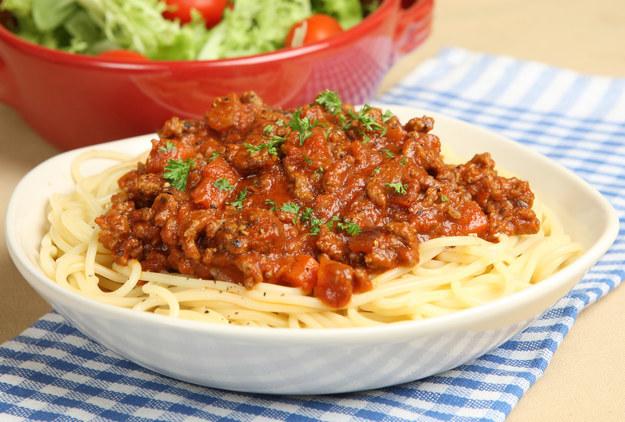 Спагетти болоньезе лазерсон