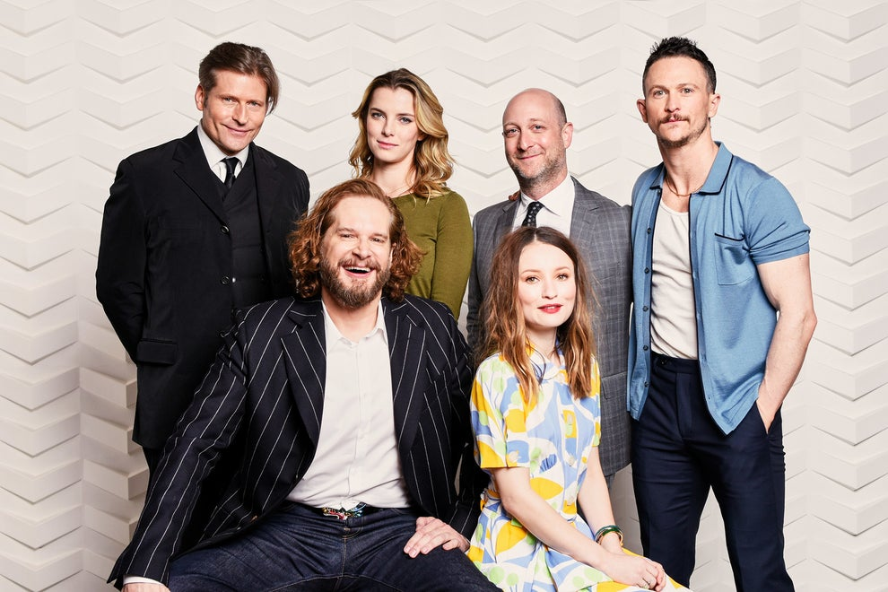 American Gods stars Crispin Glover, Betty Gilpin, Jonathan Tucker, and Emily Browning with executive producers Bryan Fuller and Michael Green