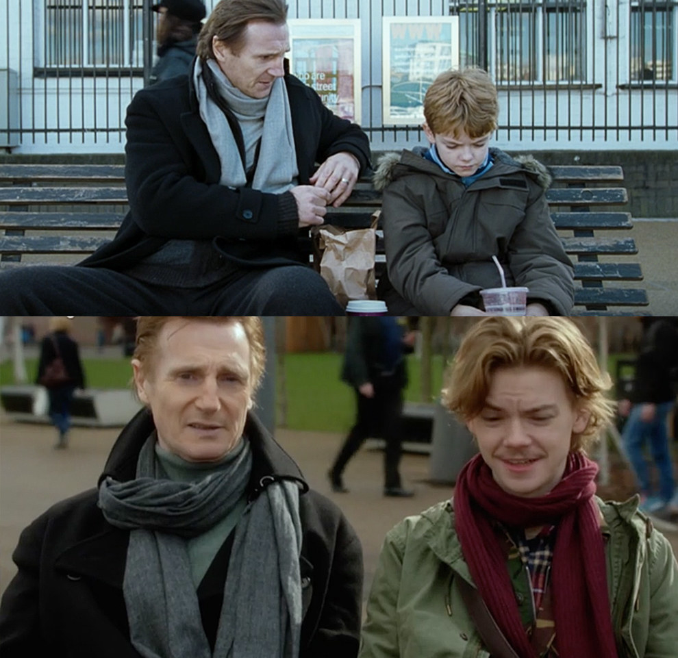 Daniel (Liam Neeson) and Sam (Thomas Brodie-Sangster)