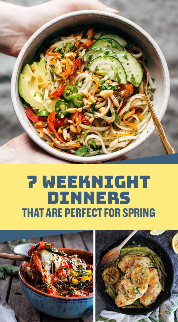 7 Weeknight Dinners That Are Perfect For Spring