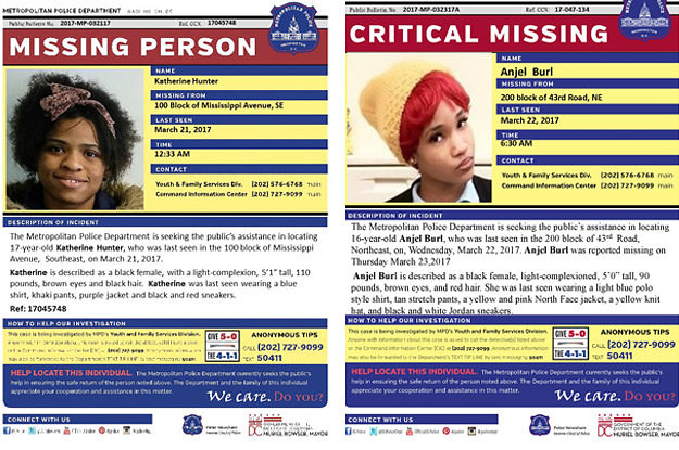Here's What's Actually Going On With The Missing Black Girls In DC