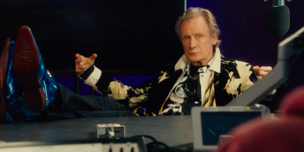 And Billy Mack (Bill Nighy) is on Radio Watford and is asked about his manager, Joe (Gregor Fisher), whom he was rude to in the original film.
