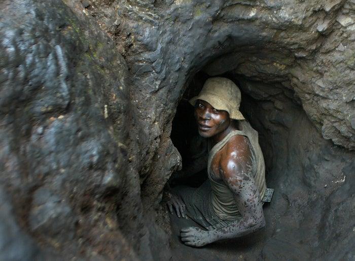 A cobalt miner in the Democratic Republic of Congo.