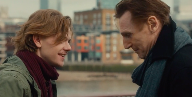 Daniel (Liam Neeson) and Sam (Thomas Brodie-Sangster) are also reunited.
