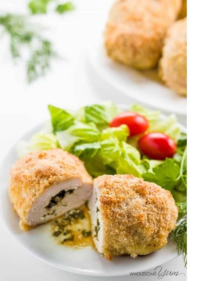 Chicken Kiev - BAKED, LOW CARB, PALEO and GLUTEN FREE- it doesn't get much more modern than this: Recipe Here
