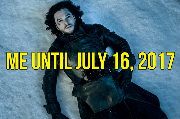 Guys, we're only 112 days away from Game of Thrones Season 7 and I can already FEEL the winds of winter (although, IRL, it's like pretty warm in LA right now, so that's weird).