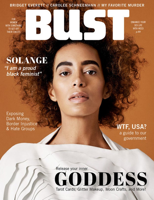 So it's no wonder BUST asked her to be their April/May 2017 cover girl.