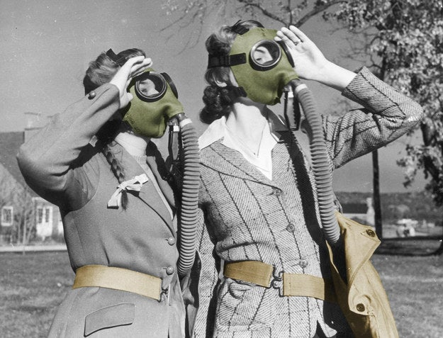 "While it sounds like a wacky Cold War-era device, it was actually invented by Dr. Elena Bodnar, who got her start as a physician treating child victims of the Chernobly disaster. According to the website, ""The Emergency Bra (EBbra) is a protective garment that can be easily and quickly transformed into two respiratory face masks in case of emergency to reduce inhalation of harmful airborne particles when specialized protective devices are not available to the public (such as natural disasters or accidents). The EBbra is like any other conventional bra in terms of its main function to support the breasts, as well as its aesthetics, sizes, colors and styles. EBbra can be worn regular, strapless, or criss-cross. The bra can also be used as a nursing bra."" It costs $49.99 and won the 2009 Ig Nobel Prize for Public Health."