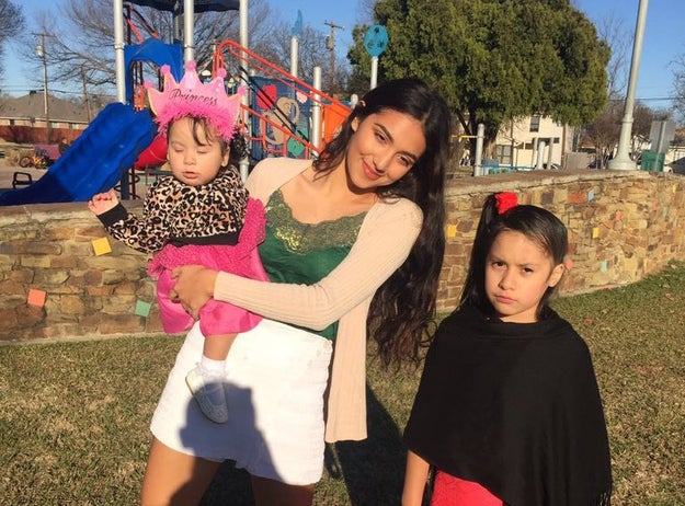 This is 17-year-old Briseyda Ponce from Irving, Texas. She is currently living with her 8-year-old cousin, Allysson Baires.