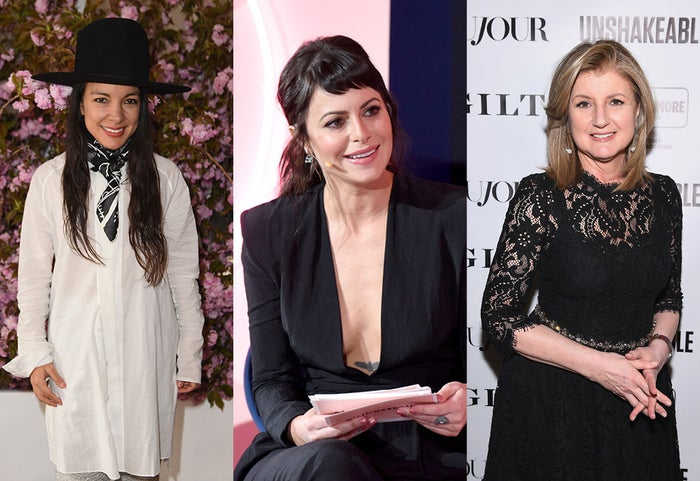 From left: Miki Agrawal, Sophia Amoruso, and Arianna Huffington