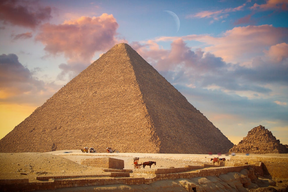 Or maybe it's the pyramids in Giza — the sole remainder of the Seven Wonders of the World.