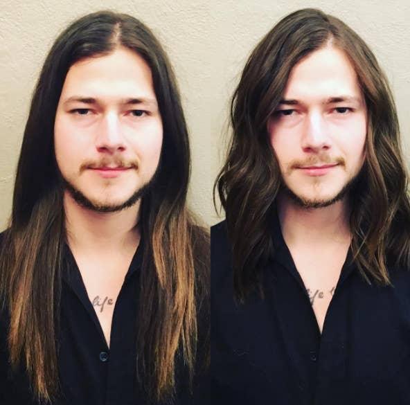 Hombres con peinados feos