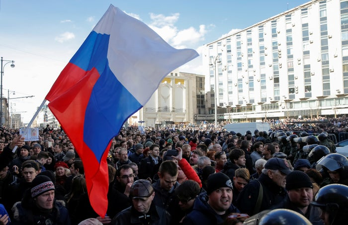 The protests were organized by Alexei Navalny, one of Russia's most prominent critics of President Vladimir Putin. Earlier this month, he accused Medvedev of taking bribes and using them to purchase assets.