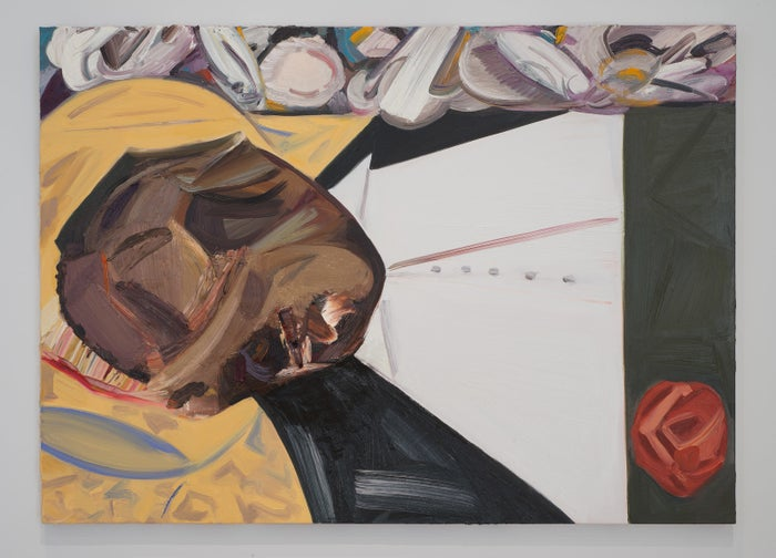 "The painting, by Dana Schutz, is titled ""Open Casket."" It illustrates the open casket funeral for the 14-year-old black boy, who was brutally lynched in Mississippi in 1955 after a white woman falsely accused him of flirting with her.Photos of Till's beaten, mangled body became a major catalyst for the civil rights movement after Till's mother had an open-casket funeral for her son. She did it so ""all the world can see what they did to my boy."""