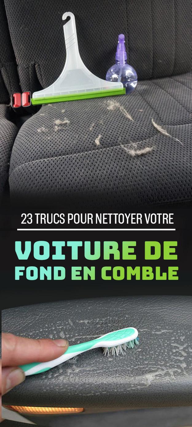 22 astuces pour nettoyer votre voiture de fond en comble. Black Bedroom Furniture Sets. Home Design Ideas