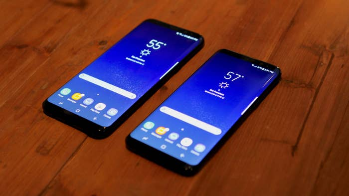 The smaller Galaxy S8 has 5.8-inch display, while the Galaxy S8+ has a 6.2-inch display. That's much larger than last year's Galaxy S7 and S7 Edge devices, which were 5.1 and 5.5 inches respectively. However, the devices' edges are curved on all four sides, which makes them seem smaller than they actually are.