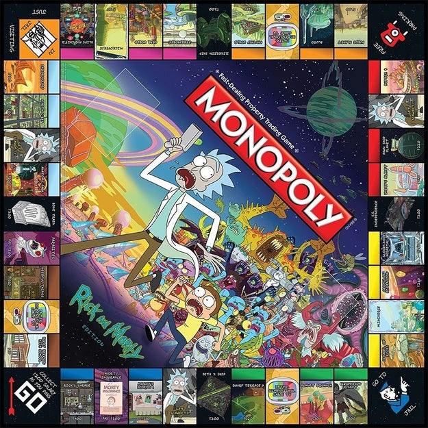A Rick and Morty Monopoly game as the perf addition for your board game shelf. (Belches not included.)