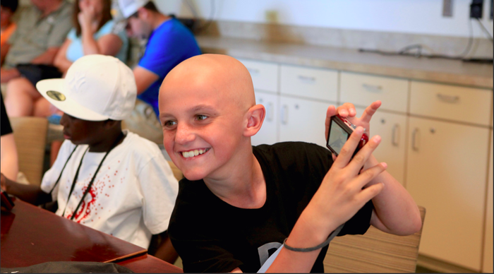 Kids learn how to use cameras and express themselves through 8-weeks of photography classes. Afterward, the prints they produced are sold online to help fund underfunded cancer research — to date Pablove has awarded $1,900,000 in Childhood Cancer Research Grants!