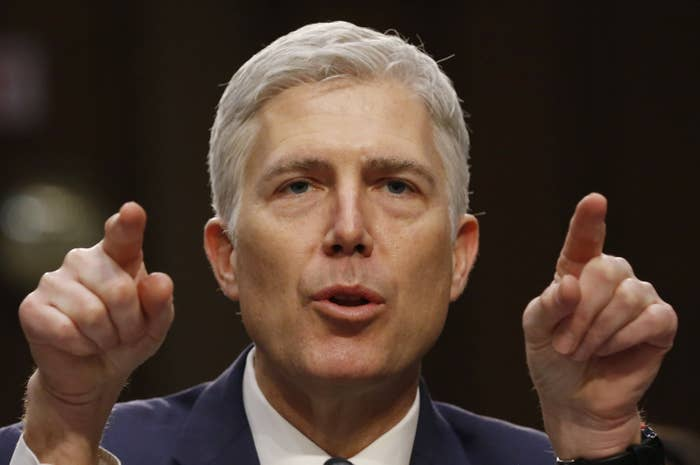 Judge Neil Gorsuch, President Donald Trump's nominee to fill a vacancy on the Supreme Court.