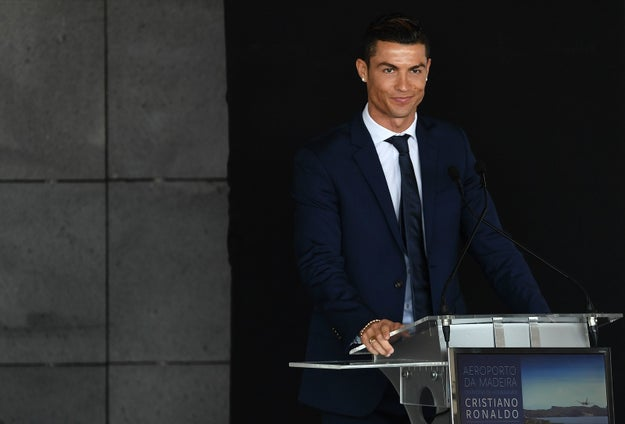 To honor his career/good looks, Ronaldo was feted in his hometown of Funchal in Portugal's Madiera region on Wednesday in a ceremony renaming the local airport in his honor.