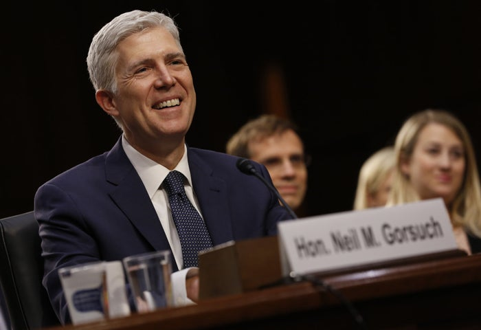U.S. Supreme Court nominee judge Neil Gorsuch testifies before a Senate Judiciary Committee confirmation hearing.