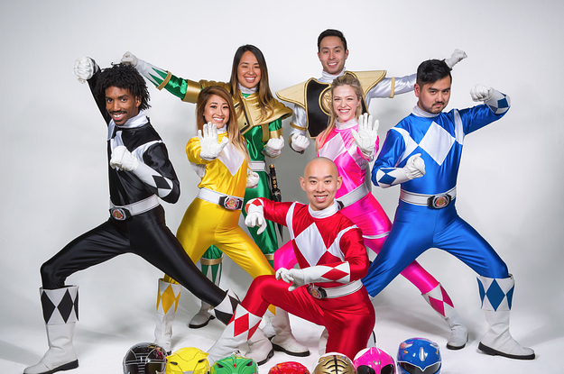 super fans tried on power rangers suits and it was a dream come true