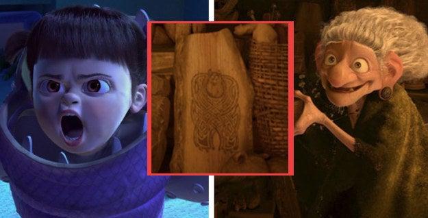 Ella creció extrañando a 'Gatito' tanto que dedicó el resto de su vida a encontrarlo, y lo consiguió, utilizando las puertas de Monsters, Inc. Un grabado de Sulley aparece al fondo de una escena de Brave, lo que nos hace pensar que la bruja lo conoce.—sarahthebookworm