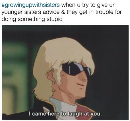 'Eu vim aqui rir de você.'
