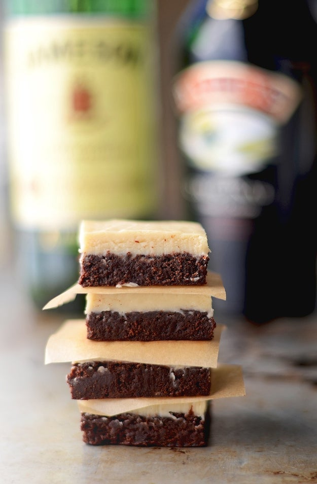Boozy Irish Brownies